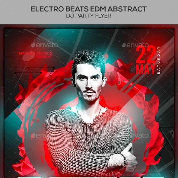 Electro Beats EDM Abstract Dj Party Flyer