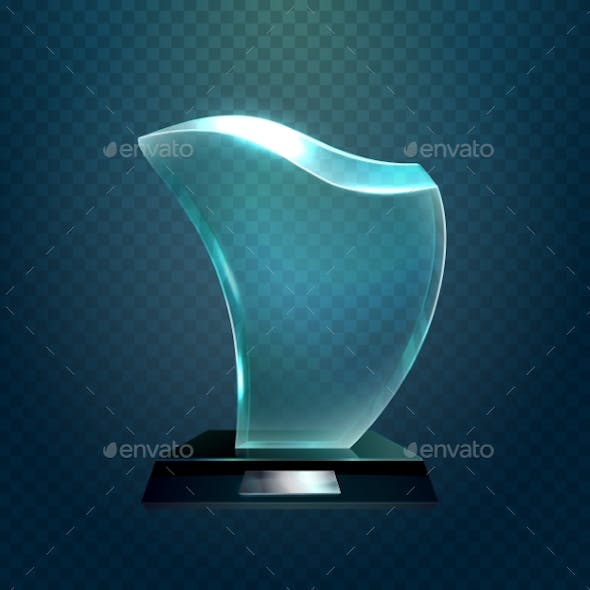 Transparent Glassware Trophy or Glass Cup
