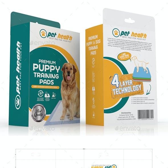 Dog Training Pad Packaging Template