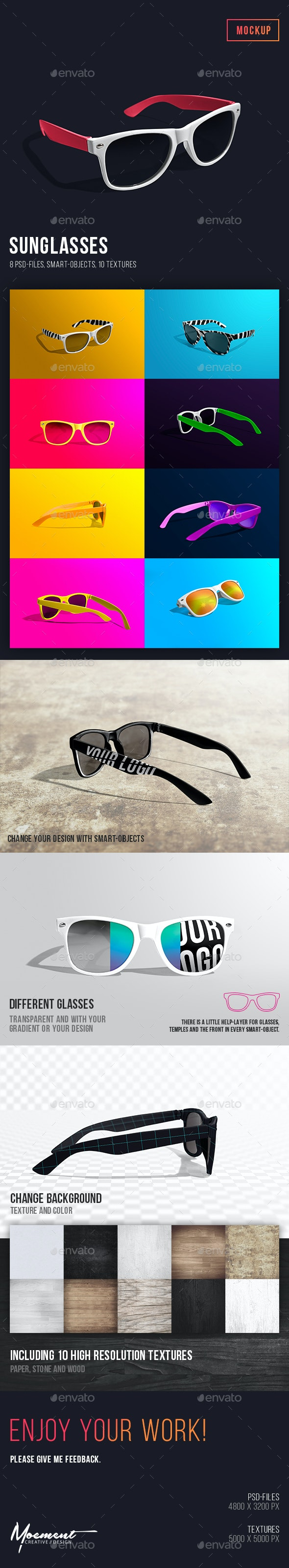 Sunglasses Mockup - Miscellaneous Apparel