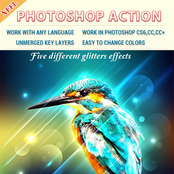 Glitters Effect V2 Photoshop Action