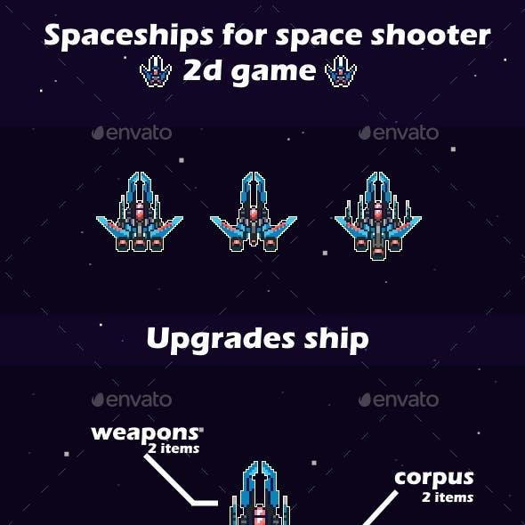 Customizes Spaceships | 2d Game Sprites