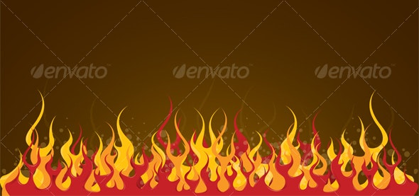 Fire background - Backgrounds Decorative
