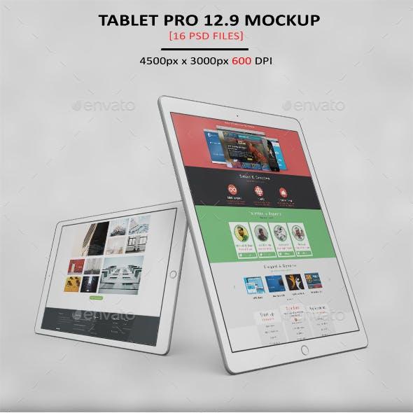Tablet Pro 12.9 App MockUp 2017 VOL3