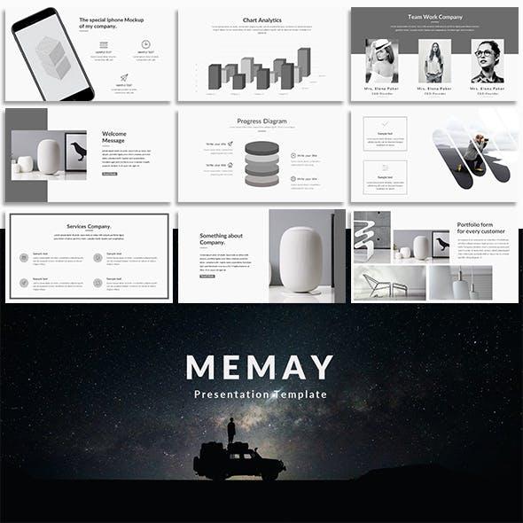 Memay Minimal Google Slide Template