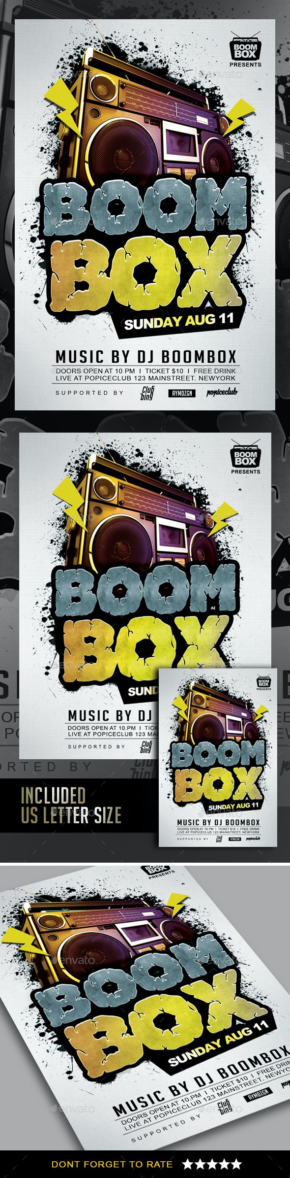 BoomBox Flyer - Clubs & Parties Events