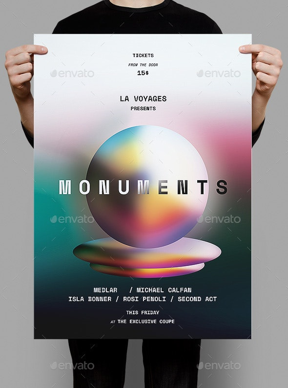 Monuments Flyer / Poster - Events Flyers