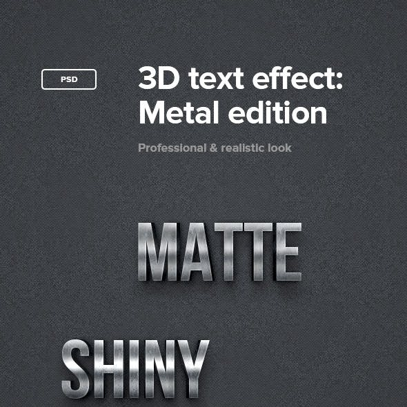 3D Text Effect: Metal Edition