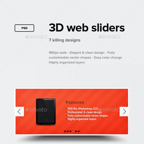 3D Web Sliders