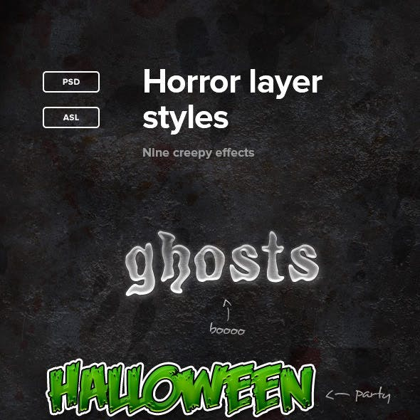 Horror Layer Styles