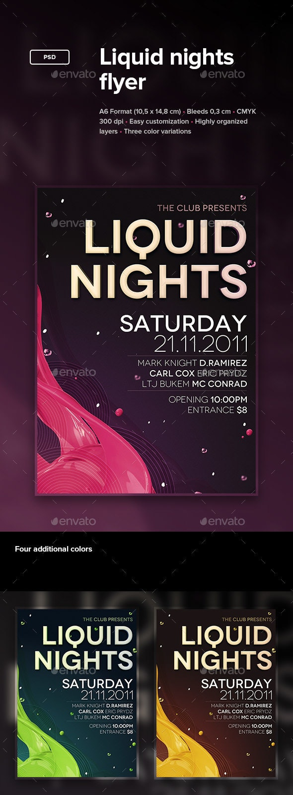 Liquid Nights Flyer - Clubs & Parties Events