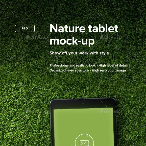 Nature Tablet Mock-up