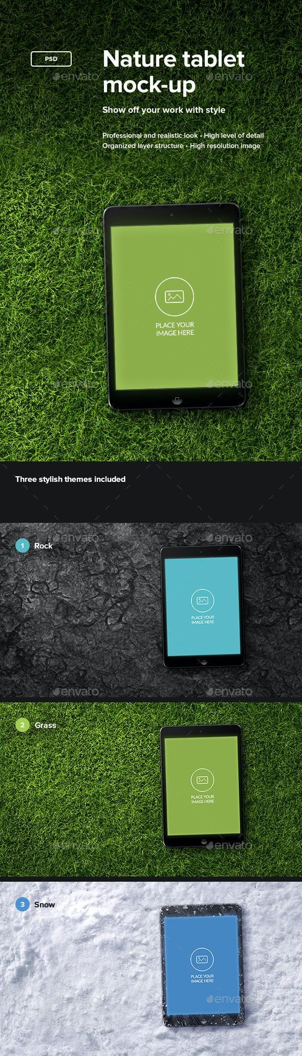 Nature Tablet Mock-up - Mobile Displays