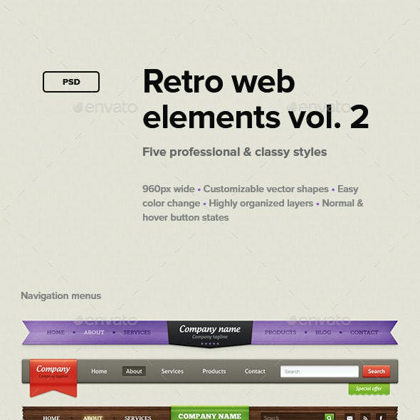 Retro Web Elements Vol. 2
