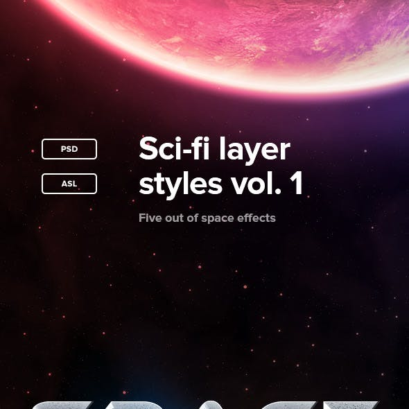 Sci-Fi Layer Styles Vol. 1