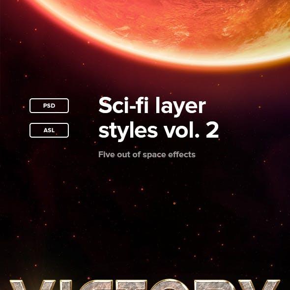 Sci-fi Layer Styles Vol. 2