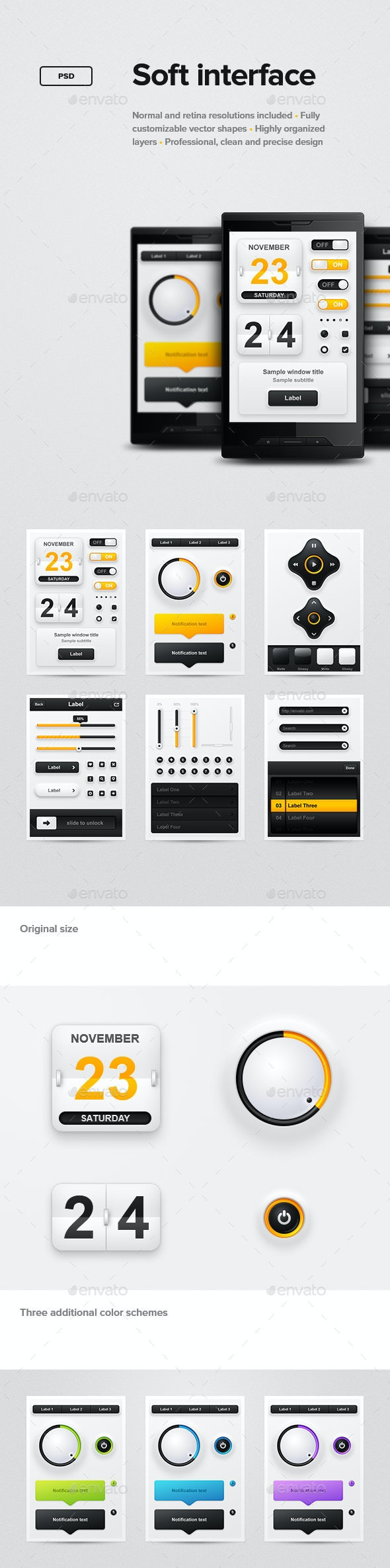 Soft Interface - User Interfaces Web Elements