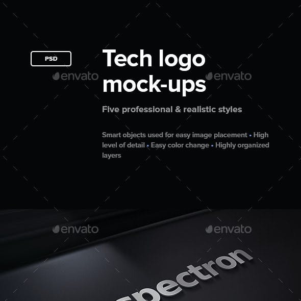 Tech Logo Mock-Ups