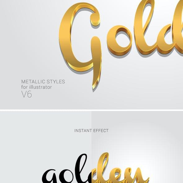 Metallic Styles for Illustrator V6