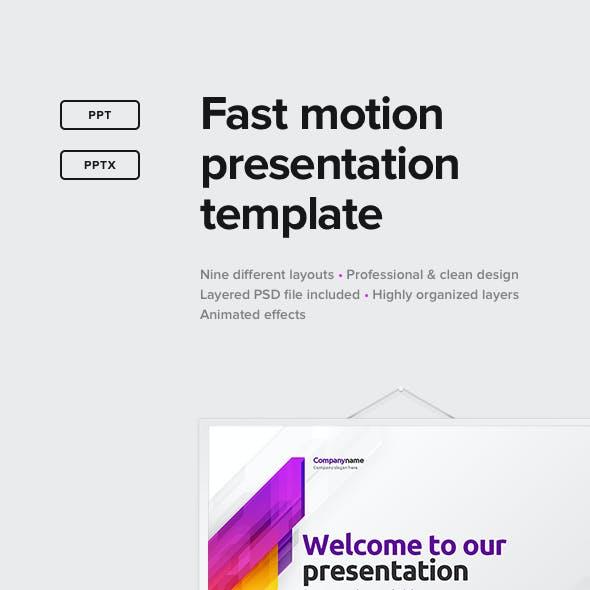 Fast Motion Presentation Template