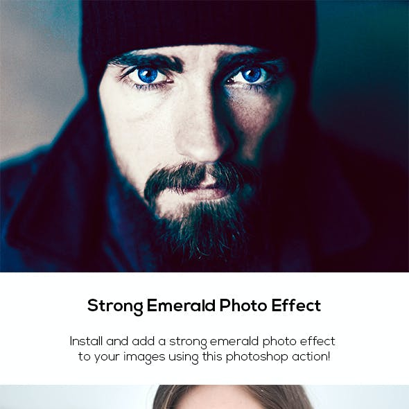 Strong Emerald Photo Effect