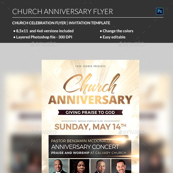 Church Anniversary Graphics Designs