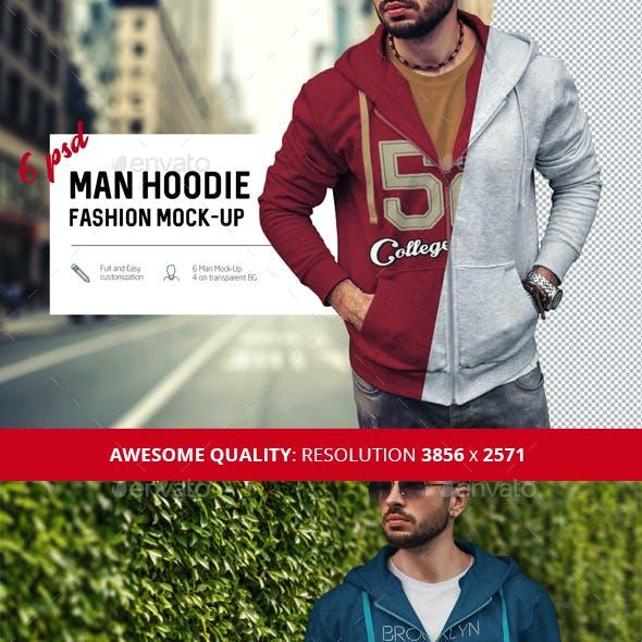 Man Hoodie Fashion Mock-Up