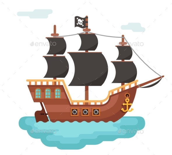 Wooden Pirate Ship - Man-made Objects Objects