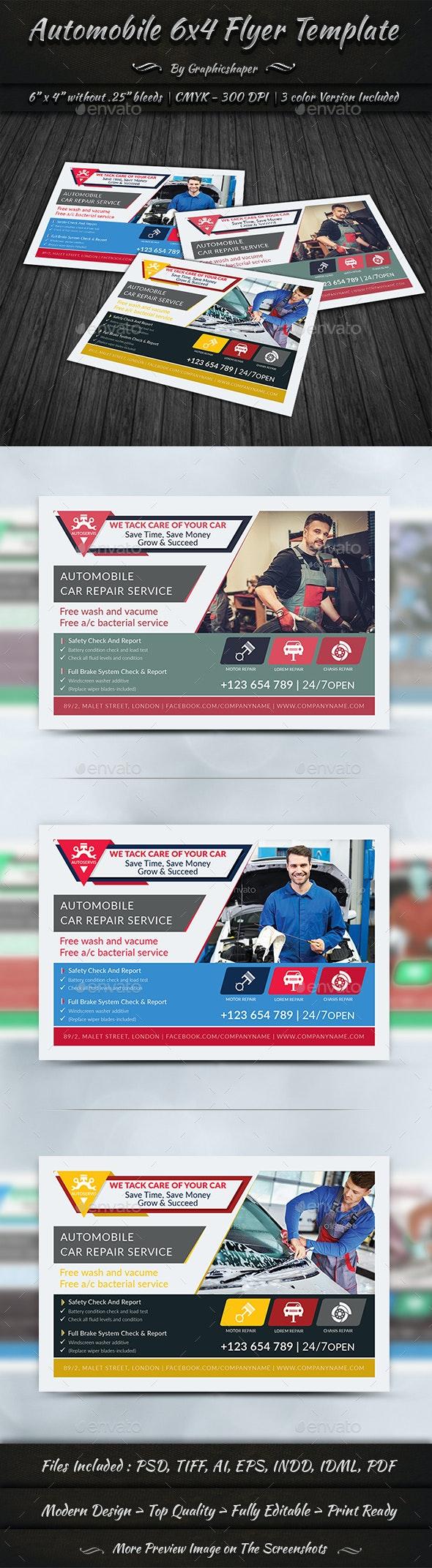 Automobile 6x4 Flyer Template - Flyers Print Templates