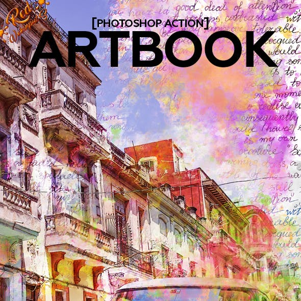 Art Book Photoshop Action