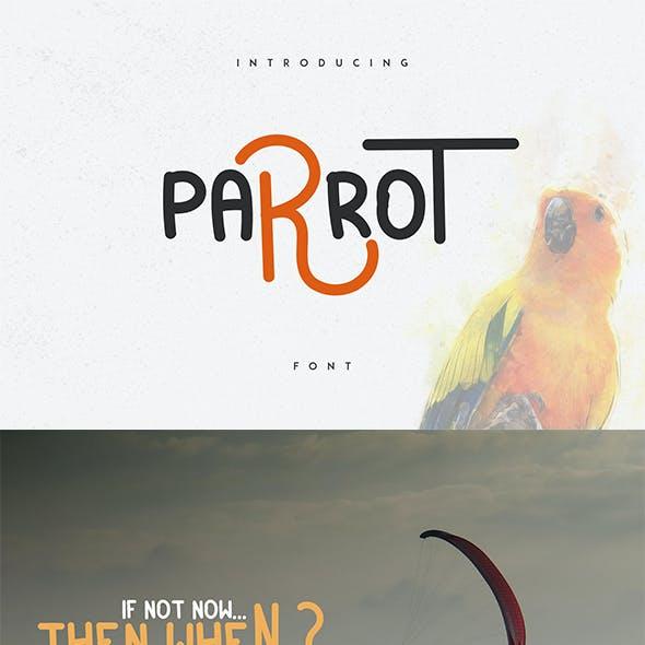 Parrot font