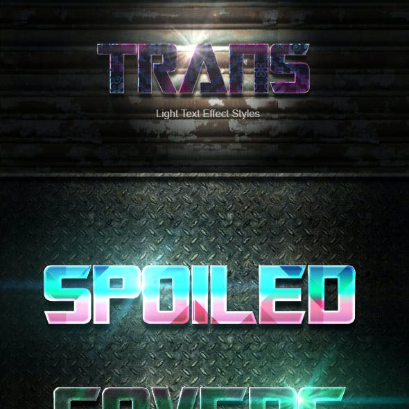 Trans Text Effect V49