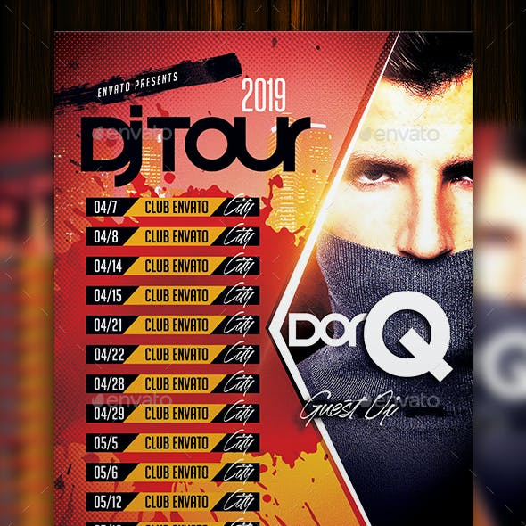 Dj Tour Flyer Template