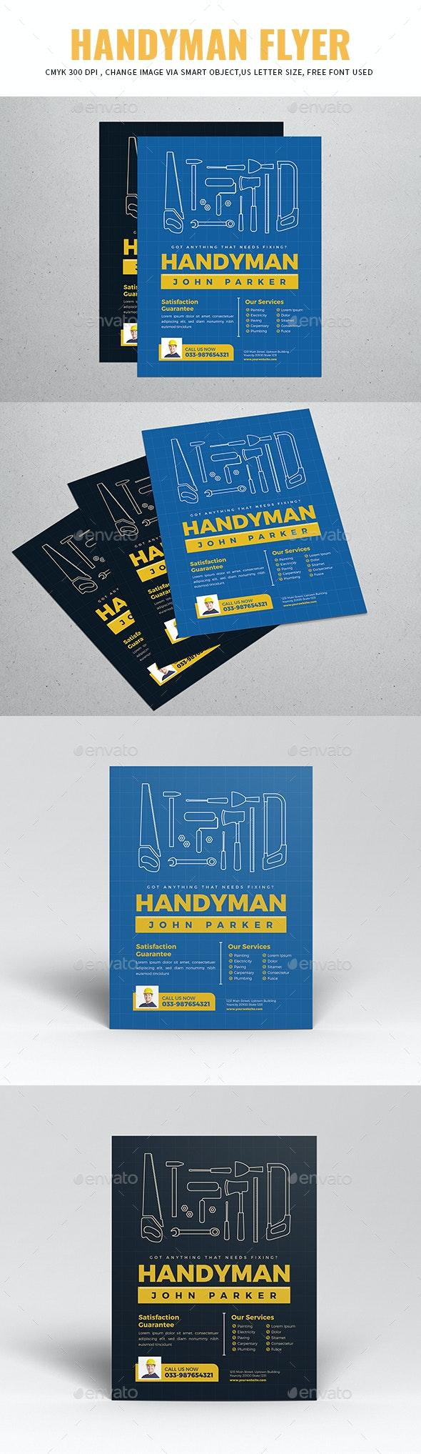 Handyman Flyer - Flyers Print Templates