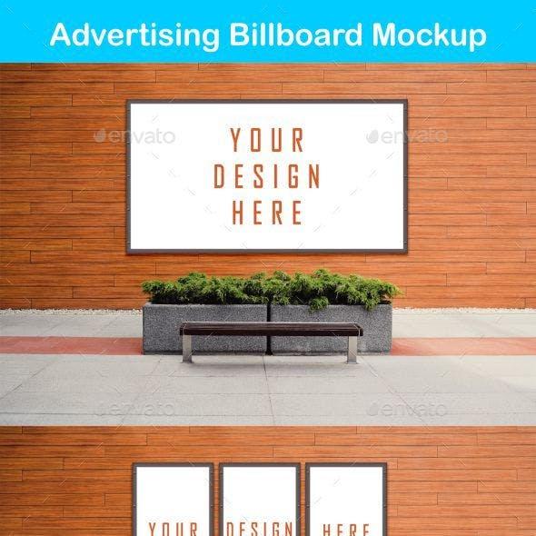 Smart Advertising Billboard Mockup PSD Template
