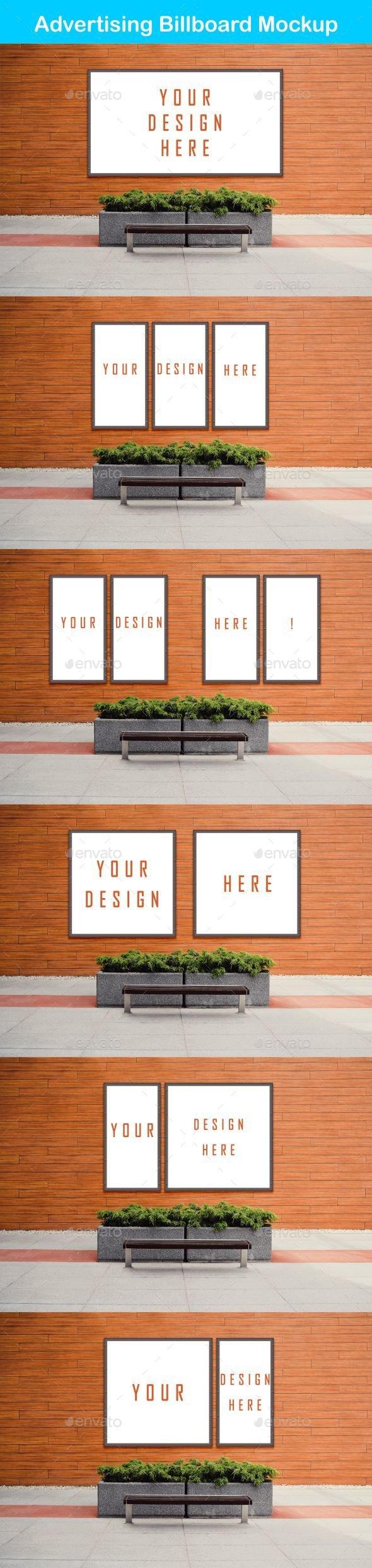 Smart Advertising Billboard Mockup PSD Template - Signage Print