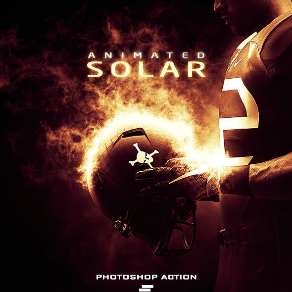 Gif Animated Solar Effect Photoshop Action