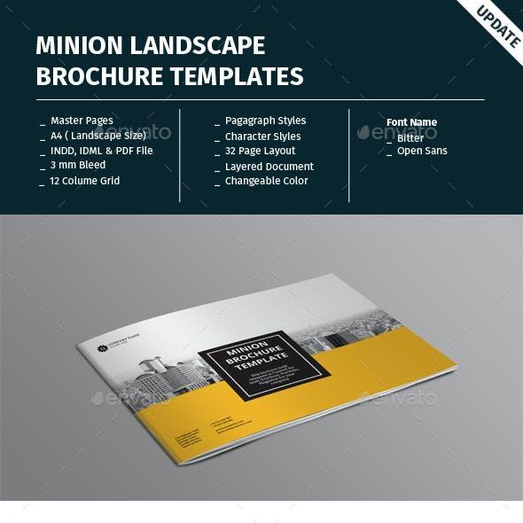 Minion Landscape Brochure Templates