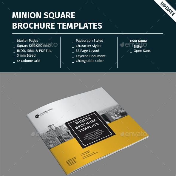 Minion Square Brochure Templates