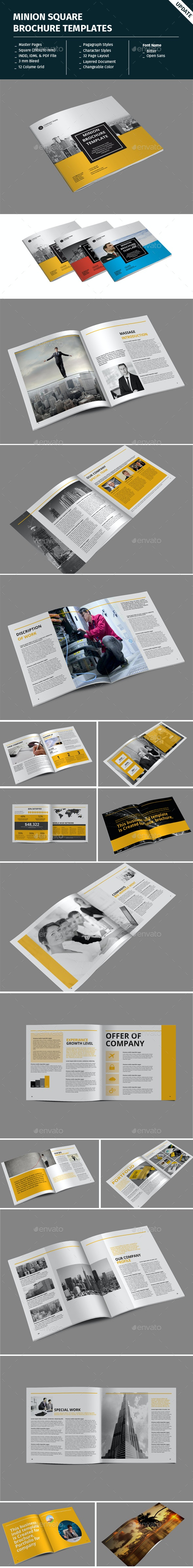 Minion Square Brochure Templates - Corporate Brochures