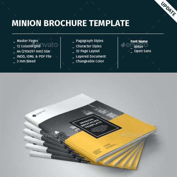 Minion Brochure Templates