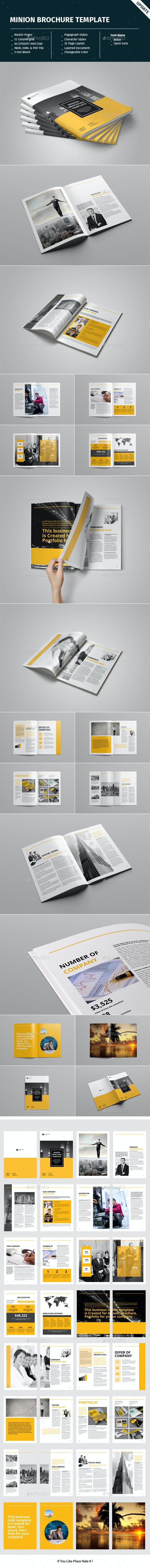 Minion Brochure Templates - Corporate Brochures