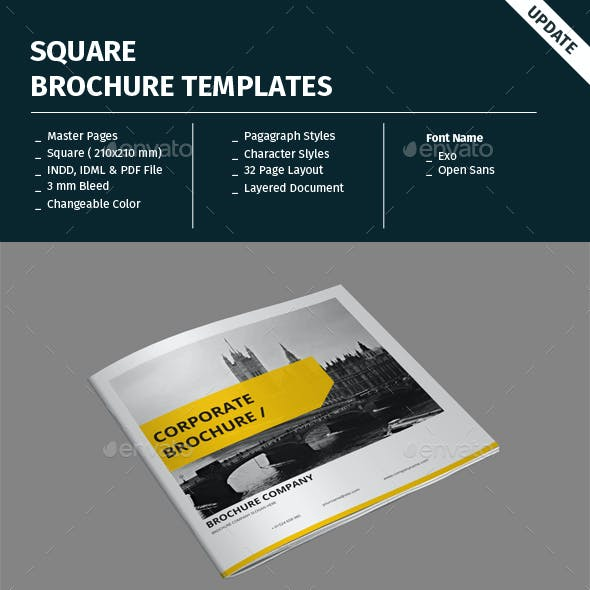 Square Brochure Templates