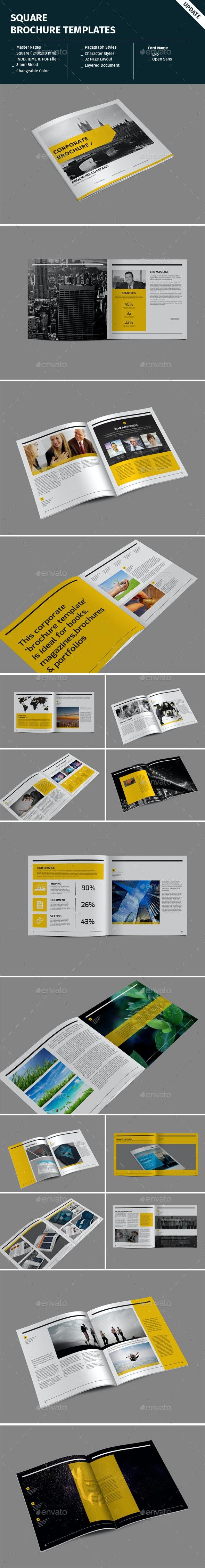 Square Brochure Templates - Corporate Brochures