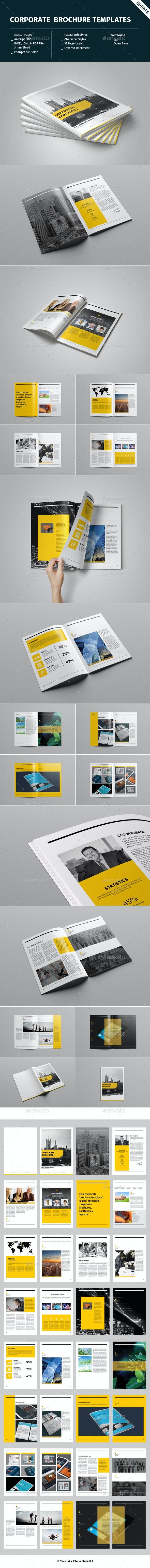 Corporate Brochure Template - Informational Brochures
