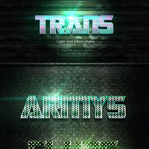 Trans Text Effect V50
