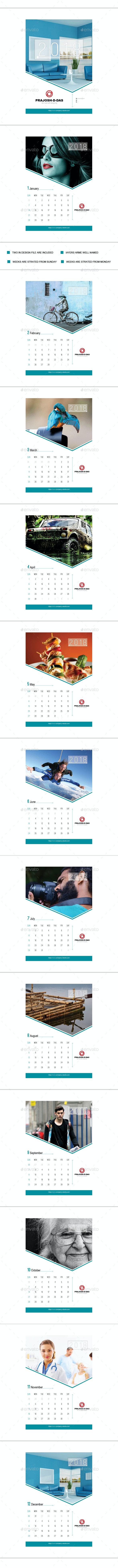 2018 Wall Calendar - Calendars Stationery