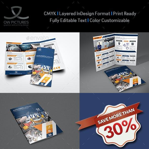 Auto Parts Catalog Brochure Bundle Template Vol.2