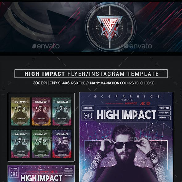 High Impact  Flyer/Instagram Template