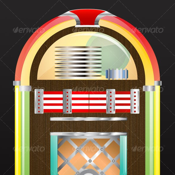 1950s Glossy Retro Jukebox